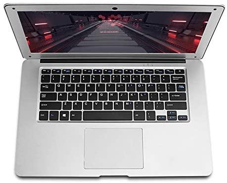 14 Zoll Laptop Notebook, Intel J3455 Quad Core CPU, 6 GB RAM, 128 GB SSD, Windows 10 Pro Betriebssystem, Full HD 1920 x 1080, Frontkamera, Schokoladentastatur, WLAN, D2