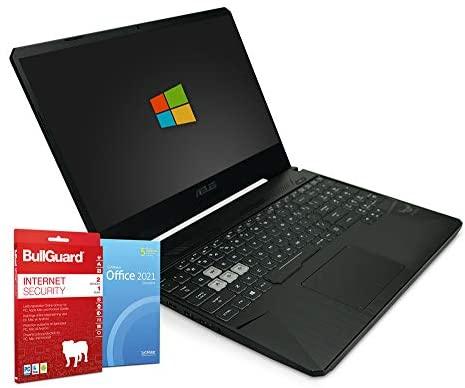 ASUS TUF Gaming FX50DT   15,6 Zoll Full HD Notebook   AMD Ryzen 5-3550H@ 4X 2,1 GHz   8 GB   512 GB M.2 SSD   Windows 10   BullGuard   SoftMaker Office   QWERTY Tastatur