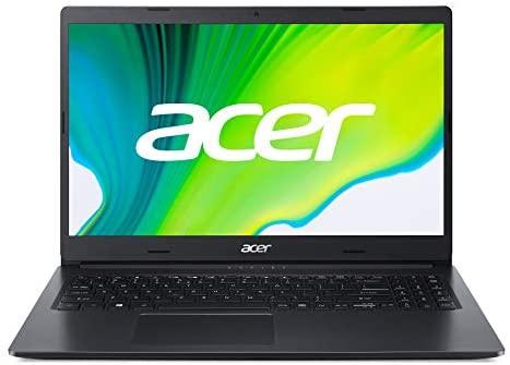 Acer Aspire (A315-23-A1T8) 39,6 cm (15.6 Zoll Full-HD matt) Multimedia Laptop (AMD 3020e, 4 GB RAM, 128GB PCIe SSD, Win 10 Home im S Modus) schwarz