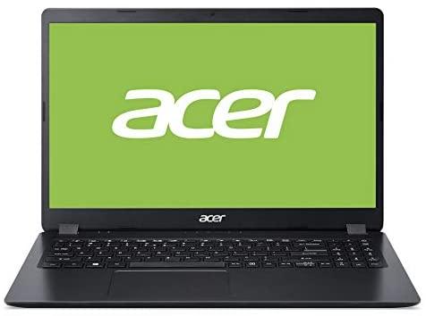 Acer Aspire (A315-56-369X) 39,6 cm (15.6 Zoll Full-HD matt) Multimedia Laptop (Intel Core i3-1005G1, 8 GB RAM, 512GB PCIe SSD, Intel UHD, Windows 10 Home) schwarz