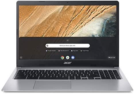 Acer Chromebook 315 (15 Zoll Full-HD IPS Touchscreen matt, 19,7mm flach, extrem Lange Akkulaufzeit, schnelles WLAN, MicroSD Slot, Google Chrome OS) Silber