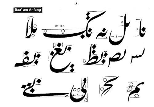 Arabische Kalligraphie, Farsi-Schrift, Übungsheft 1: Arabische Kalligraphie für Anfänger, Lehrmittel für Arabische Kalligraphie