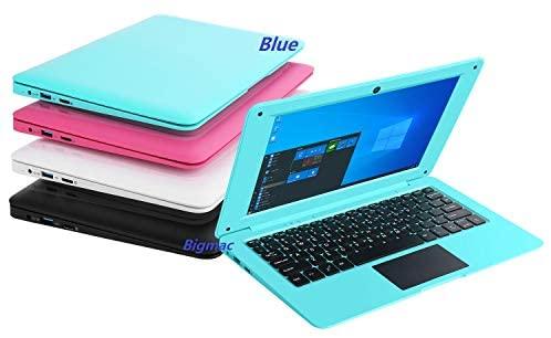 Bigmac Windows 10 Computer Laptop Mini 10,1 Zoll 32 GB ultradünnes und leichtes Netbook Intel Quad Core CPU PC HDMI WiFi USB Netflix YouTube (blau)