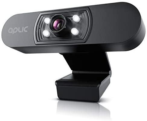 CSL - Full HD Webcam 1080p mit Mikrofon - 2k 1920x1080P – 4 Hilfslichter/Szenelicht– 5P Linse – automatischer Weißabgleich - für PC MAC - OBS, Zoom, Mixer, Skype, FaceTime - Laptop Notebook