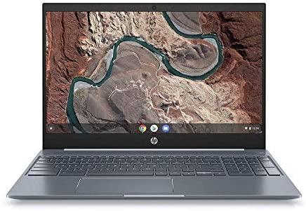 HP Chromebook 15-de0000ng (15,6 Zoll / Full HD) Laptop (Google Chrome OS, 18 mm flach, Aluminium Gehäuse, lange Akkulaufzeit, 2 x USB C) weiß (Generalüberholt)