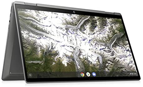 HP Chromebook x360 14c-ca0290ng (14 Zoll / Full HD IPS Touch) 2in1 Chromebook (Intel Core i3-10110U, 64 GB eMMC, 8 GB DDR4 RAM, Intel UHD Grafik, Chrome OS) Silber