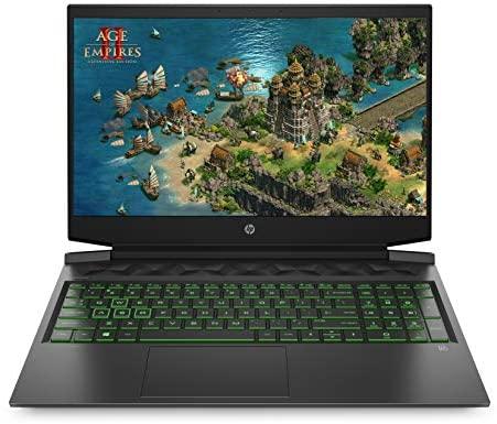 HP Pavilion Gaming 16-a0272ng (16 Zoll / Full HD IPS 144Hz) Gaming Laptop (Intel Core i7-10750H, 16GB DDR4 RAM, 256GB SSD + 1TB HDD, Nvidia GeForce GTX 1660Ti 6GB (MAX-Q), Windows 10) schwarz / grün