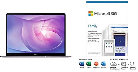 Huawei MateBook 13 2020 - 13 Inch Laptop + Microsoft 365 Family   Box