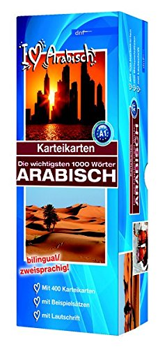 Karteikarten - Die wichtigsten 1000 Wörter, Arabisch: Niveau A1 bilingual / zweisprachig