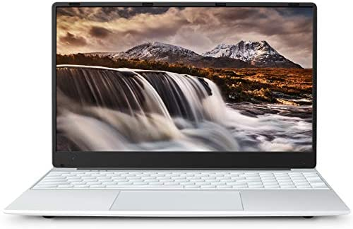 MEBERRY Notebook 15.6 FHD - Ultra Slim Windows 10 Laptop: 8 GB DDR4, 256 GB SSD | IPS 1920 x 1080 | 2.4 G / 5G Dual Band WiFi | Micro SD | Bluetooth | HDMI | USB 3.0 / 2.0 - silber