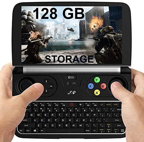 MELARQT GPD Win 2 [128 GB M.2 SSD Speicher] 15,2 cm Mini Handheld Video Spielkonsole Tragbar Windows 10 Gamplayer Laptop Notebook Tablet PC CPU M3-7y30 lntel HD Graphics 615 8 GB/128 GB, schwarz