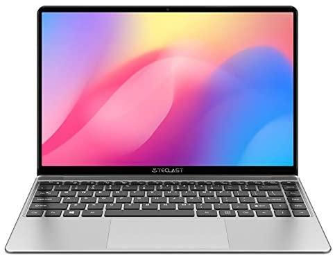 TECLAST F7S Laptop 14,1 Zoll Full HD Bildschirm Ultra Slim, 8 GB RAM 128 GB SSD, Intel Apollow Lake 3350, Intel UHD Graphics 500, Windows 10, Deutsche QWERTZ-Tastatur Grau