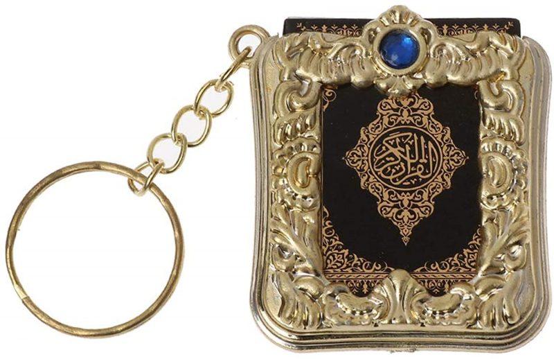 WDTong Mini Ark Quran Buch Real Paper kann Arabisch lesen Der Koran Keychain Muslim Schmuck