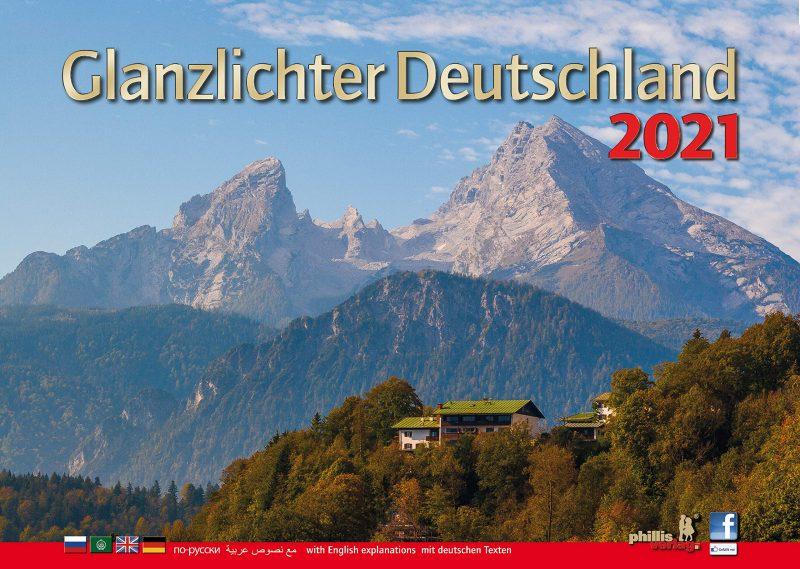 Glanzlichter Deutschland 2021: mit Texten in Deutsch, Englisch, Russisch und Arabisch: with English explanations