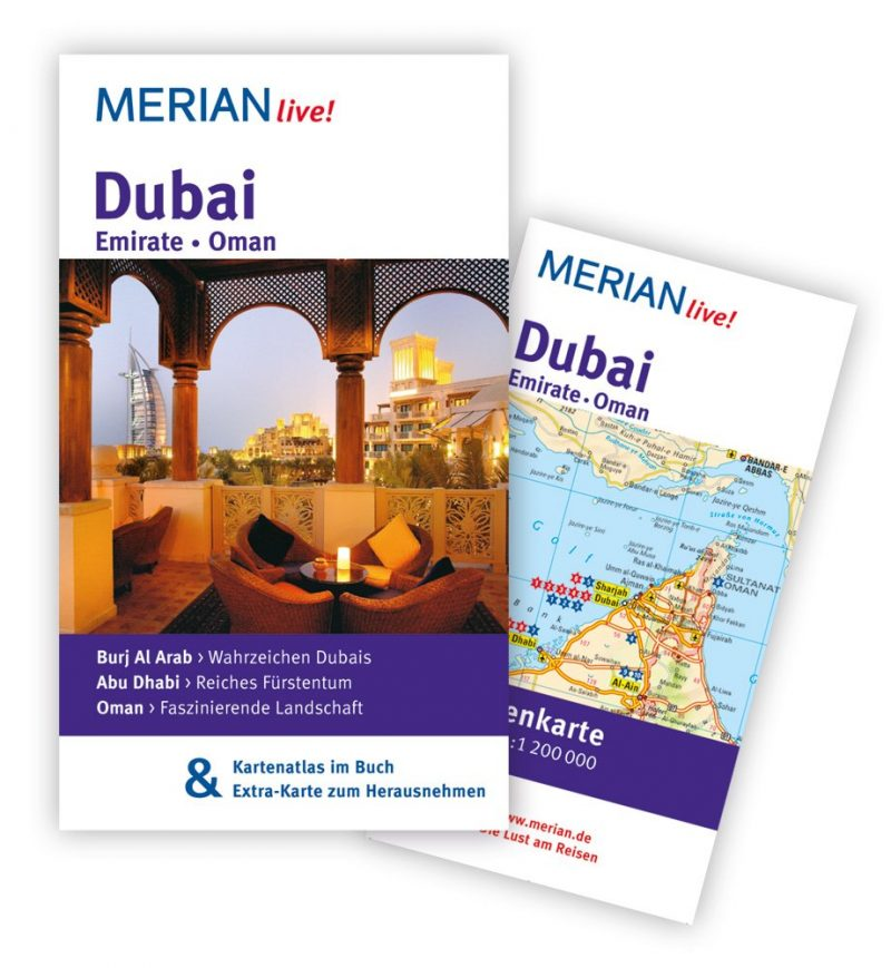 MERIAN live! Reiseführer Dubai Emirate Oman: MERIAN live! - Mit Kartenatlas im Buch und Extra-Karte zum Herausnehmen