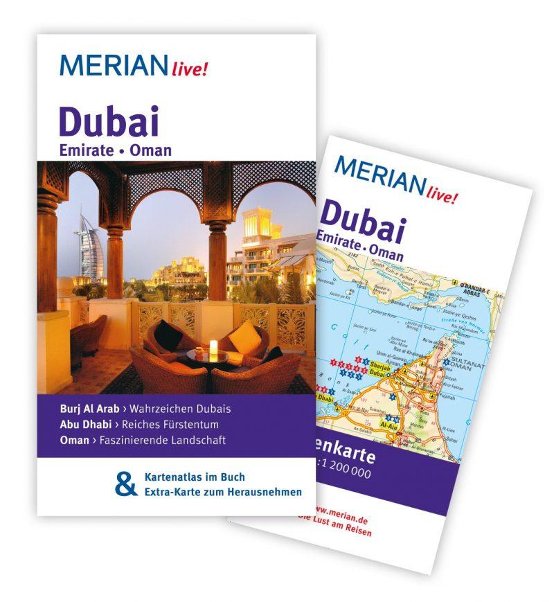 MERIAN live! Reiseführer Dubai Emirate Oman: Mit Kartenatlas im Buch und Extra-Karte zum Herausnehmen